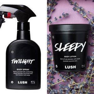 LUSH Twilight & Sleepy Lotion Bundle